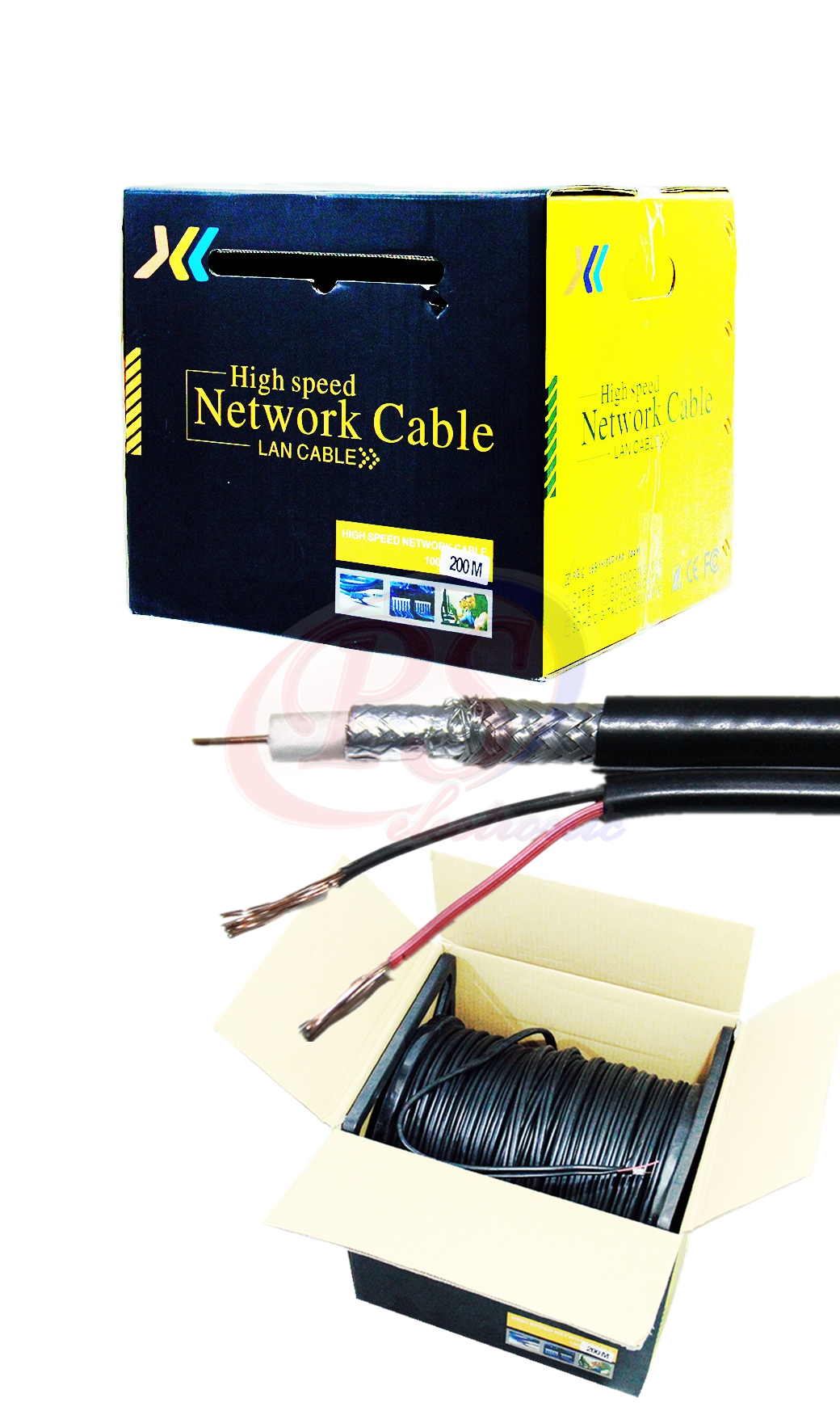 CABLE RG6 168 POWER LINE 200M