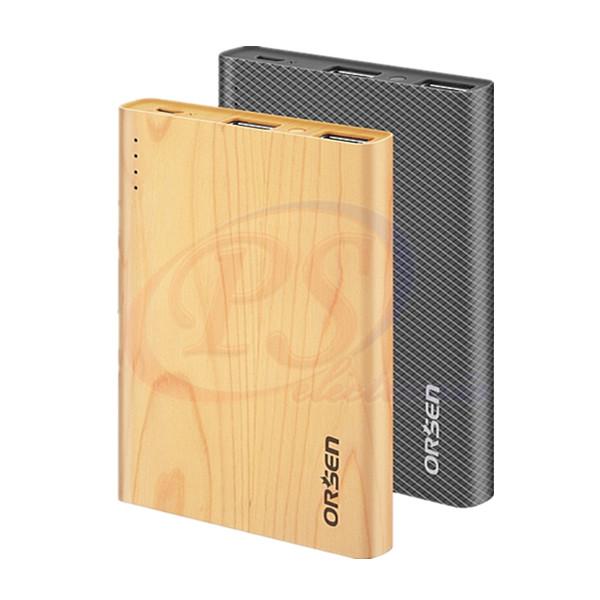 แบตเตอรี่สำรอง ORSEN E12 Wood ของแท้